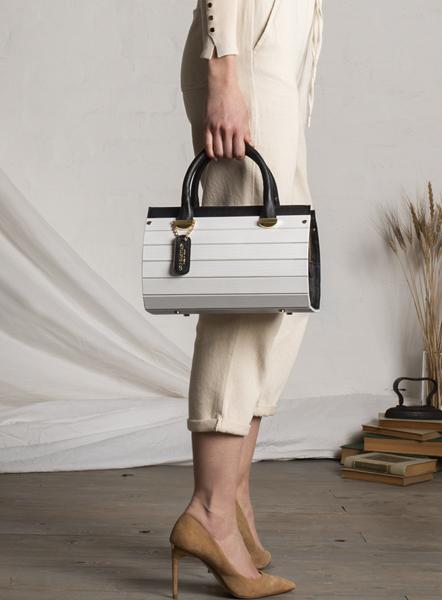 borsa simona legno bianca