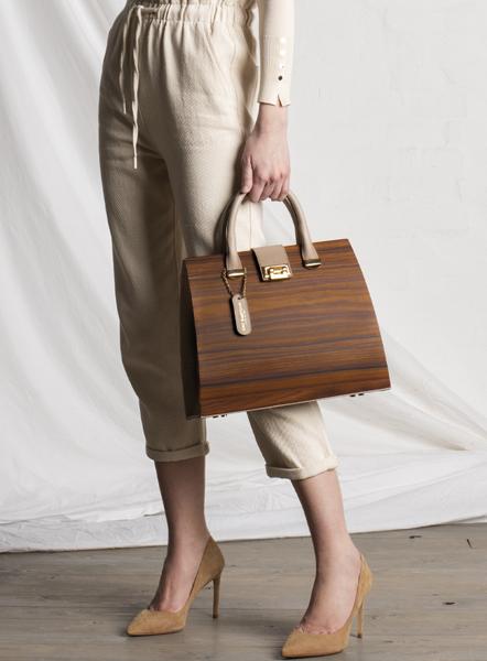 borsa linda in legno palissandro