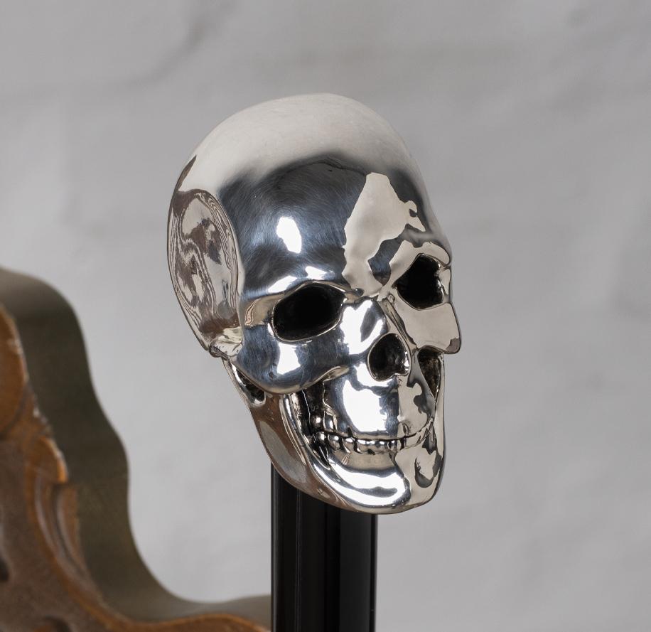 bastone unisex teschio argento