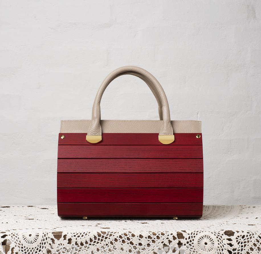 borsa simona frassino rossa