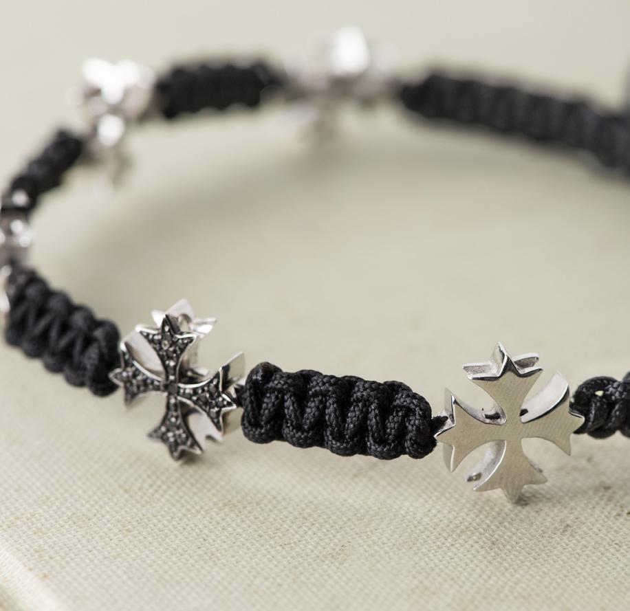 bracciale oro bianco e diamanti