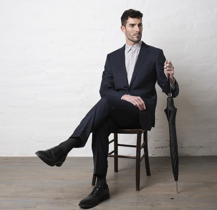 ombrello uomo tirapugni argento