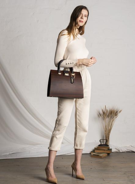 borsa linda legno scuro