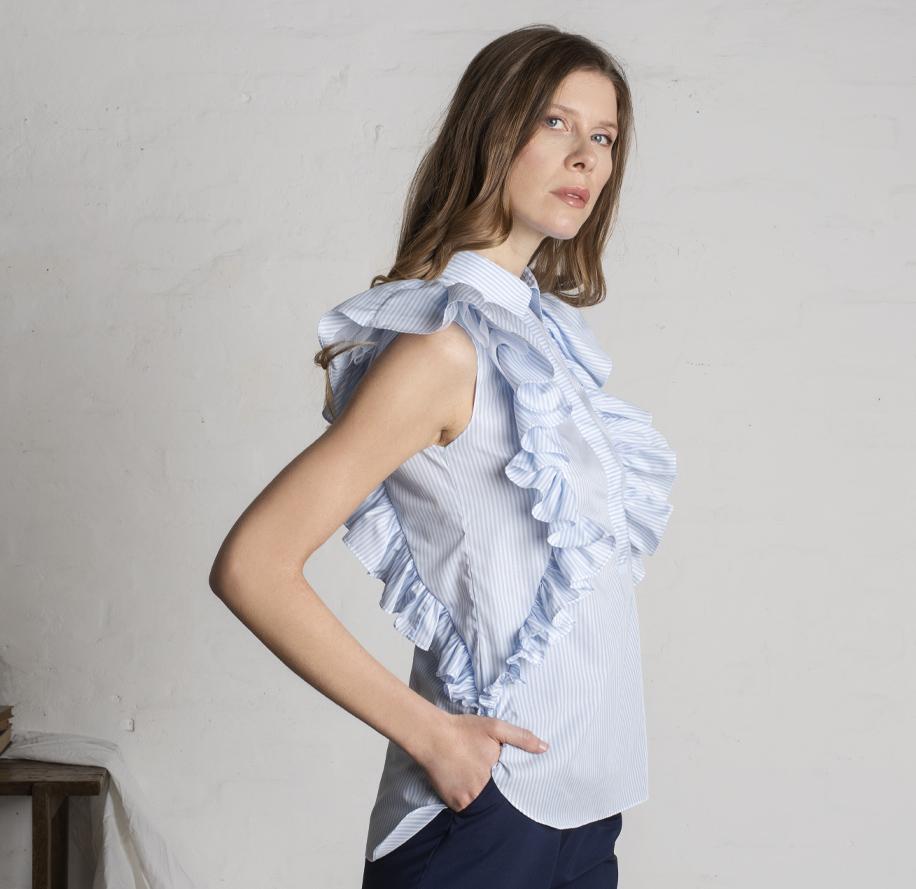 Atelier Meni_Camicia di cotone a righe bianche e azzurre_g4